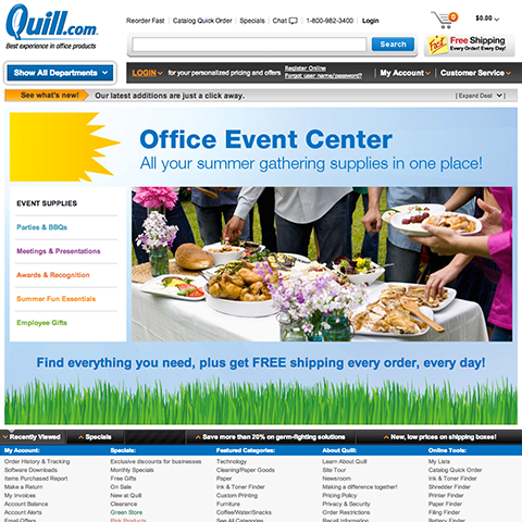 Office Event Center for Quill.com