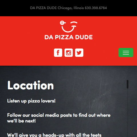 Responsive Website for a Chicago Food truck.